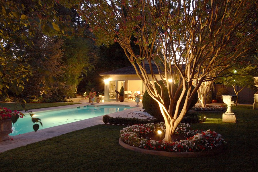 outdoor landscape lighting in San Jose